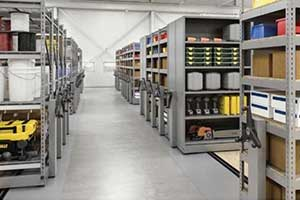 Automotive movable shelving for storage