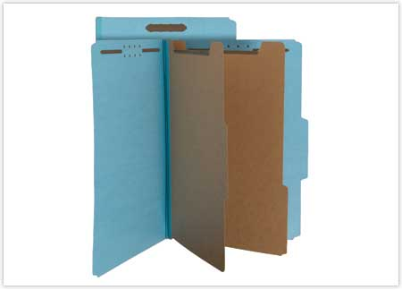 File folders with prongs