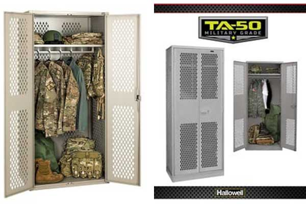 Locker storage for law enforcement, military, sports teams