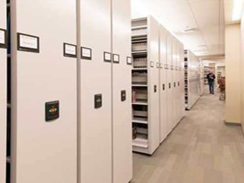 Movable shelving options to maximize storage space