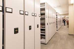 Movable shelving for office storage
