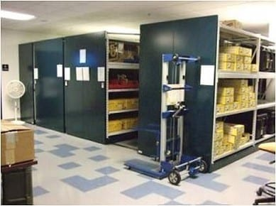 Storage shelves for government documents