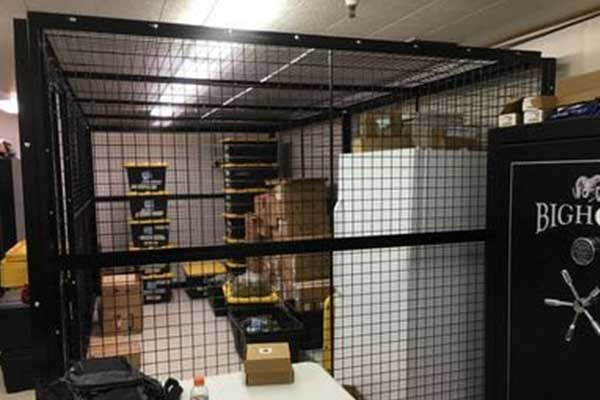 Wire cages to protect storage items